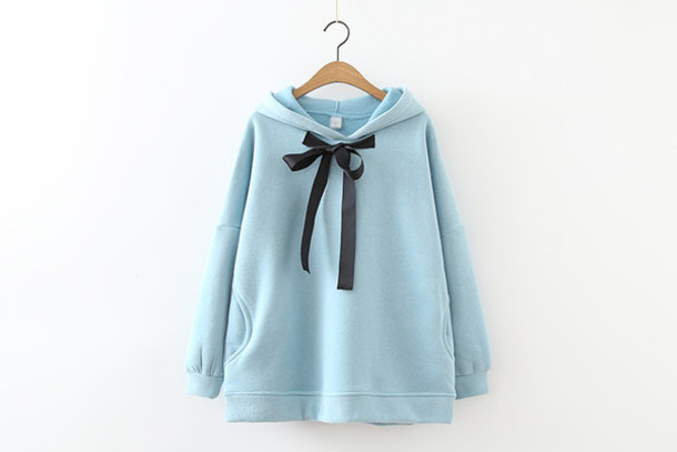 Sweater: hoodie, colorful, baby blue, pastel blue, light blue, sky ...