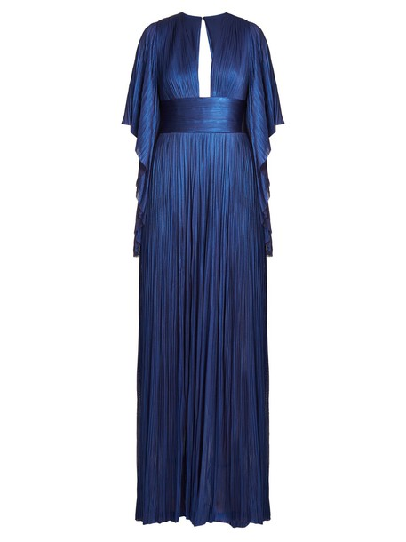 Maria Lucia Hohan gown pleated blue dress