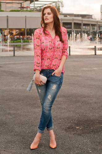 the bow-tie blouse jeans bag shoes