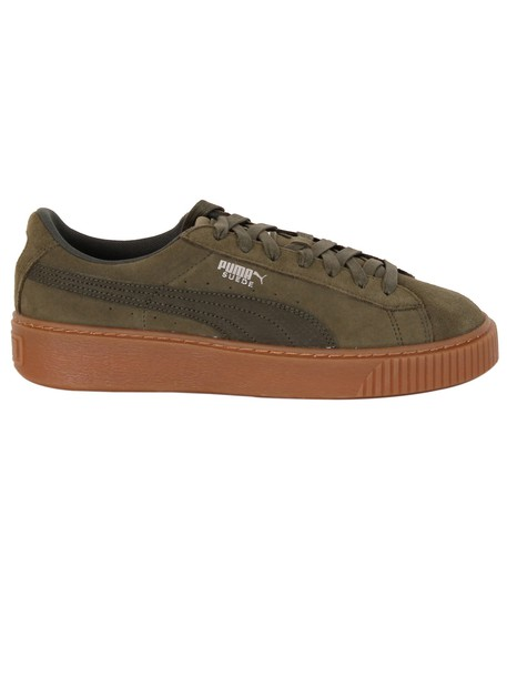 puma animal sneakers suede green shoes