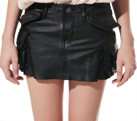 Buy sizzling womens leather mini skirt online
