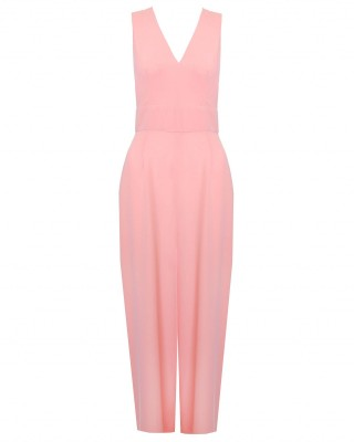 LOVE Peach Cross Back Jumpsuit - Love