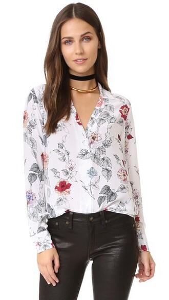 shirt white bright top