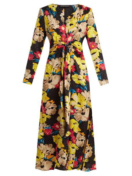 ETRO dress midi dress midi floral print silk black