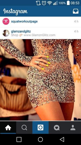 dress glitter glitter dress nude dress fashion