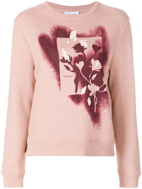 Carven jumper women cotton purple pink sweater