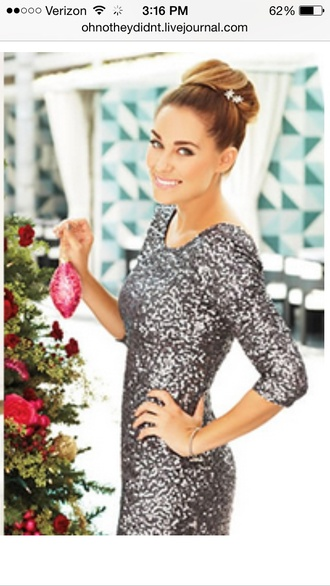 dress lauren conrad glitter dress silver holiday dress