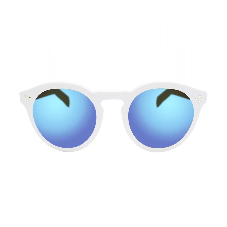 Illesteva Leonard II White Sunglasses - Round Sunglasses - ShopBAZAAR