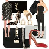the fashion guitar,blogger,bag,jewels,jumpsuit,gun,patterned dress,heels
