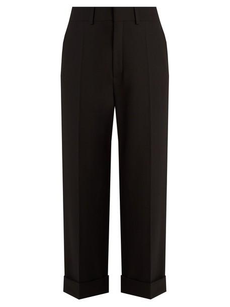 Chloe cropped wool black pants