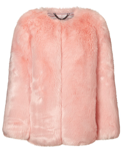 THP Shop coat faux fur coat fur coat fur faux fur baby pink baby pink