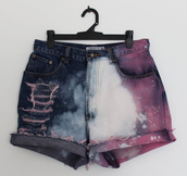 shorts,bleached,High waisted shorts