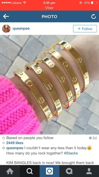 jewels cartier gold cartier gold bracelet cartier bangle bracelets accessories jewelries