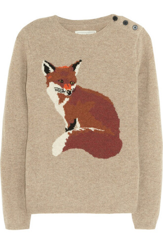 beige jumper fox