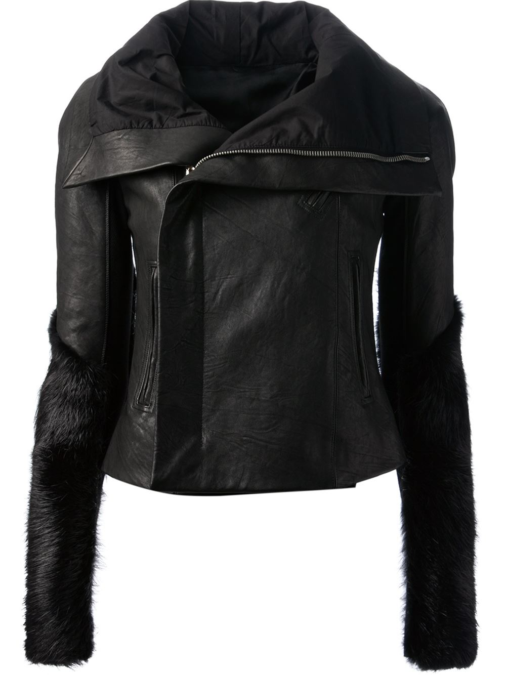 Rick owens fitted biker jacket