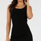 Basic ribbed rounded hem tank dress