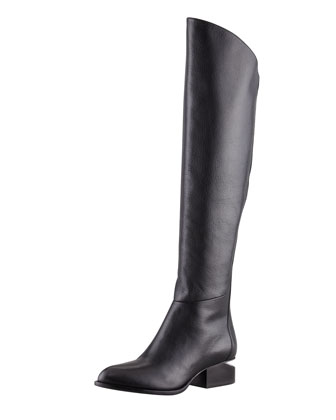 Alexander Wang Sigrid Back-Zip Knee Boot, Black - Neiman Marcus