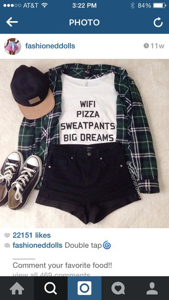 top shorts blouse t-shirt hat shirt