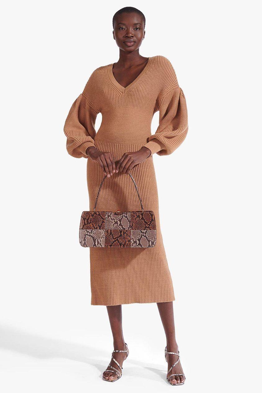 CARNATION DRESS | CAMEL
