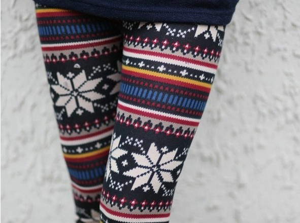2013 Fashion Aztec Leggings  Fall/Winter Reindeer Women Pants Warm Free Shipping  Free size length 35.43inch-in Socks & Hosiery from Apparel & Accessories on Aliexpress.com
