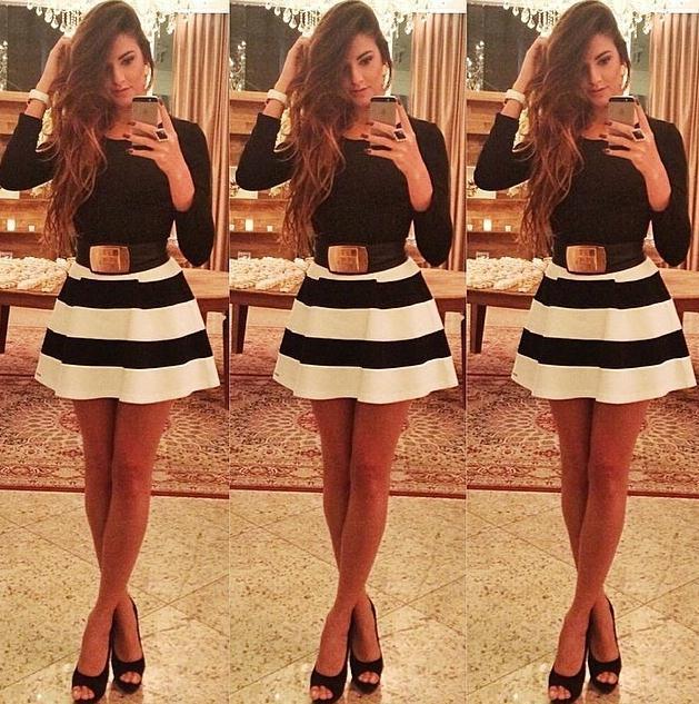 Hot two piece dress no belt