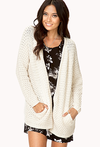 Easy Open-Front Cardigan | FOREVER 21 - 2000128484