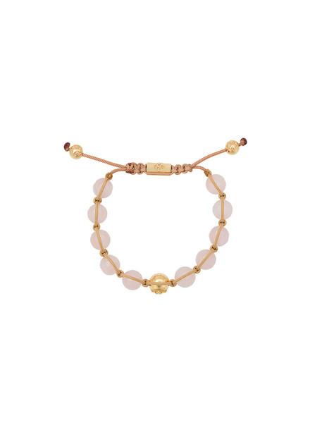 Nialaya Jewelry beaded bracelet women beaded gold grey metallic jewels