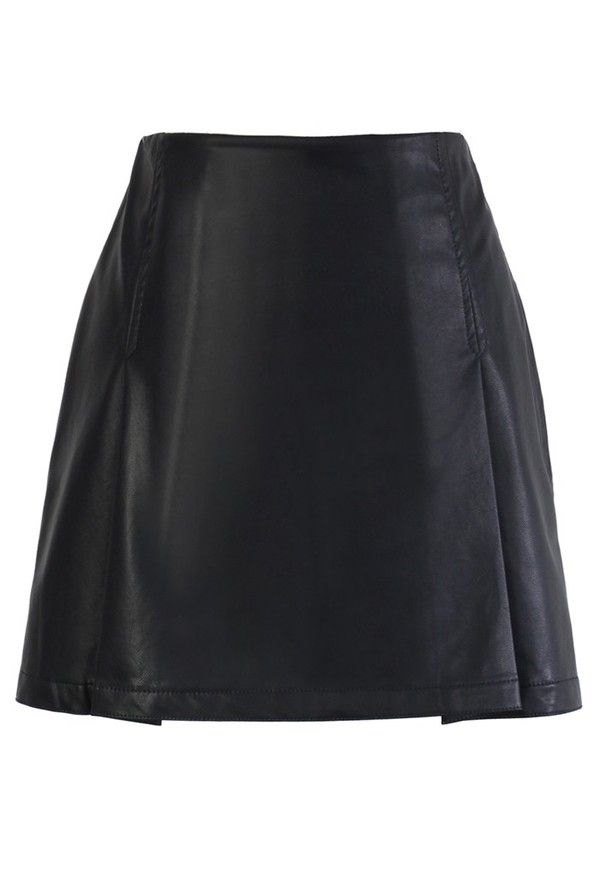 skirt chicwish faux leather bud skirt