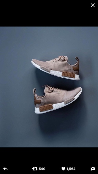 shoes adidas nude brown shoes nmd adidas nmd adidas