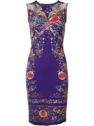 dress print dress women spandex lace cotton print purple pink
