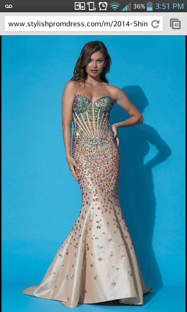 dress mermaid jovani prom dress