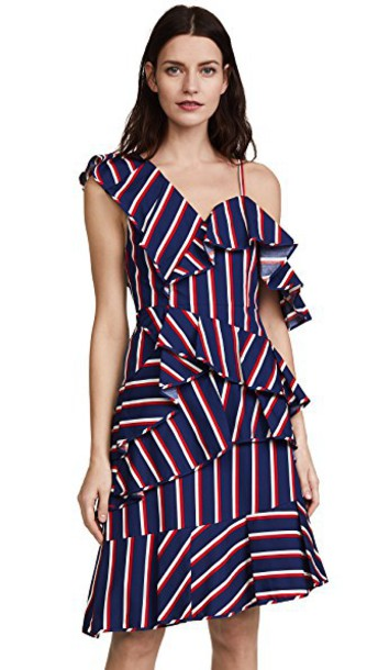 dress midi dress asymmetrical ruffle midi