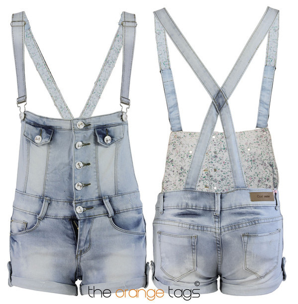 jumpsuit denim denim dungarees romper shorts hot pants light jeans dress floral flowers print festival summer spring summer outfits fashion sexy cute bow coachella acid wash dope hippie happy