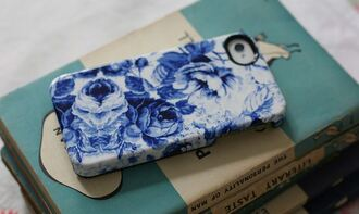 phone cover phone iphone iphone case floral blue floral phone case
