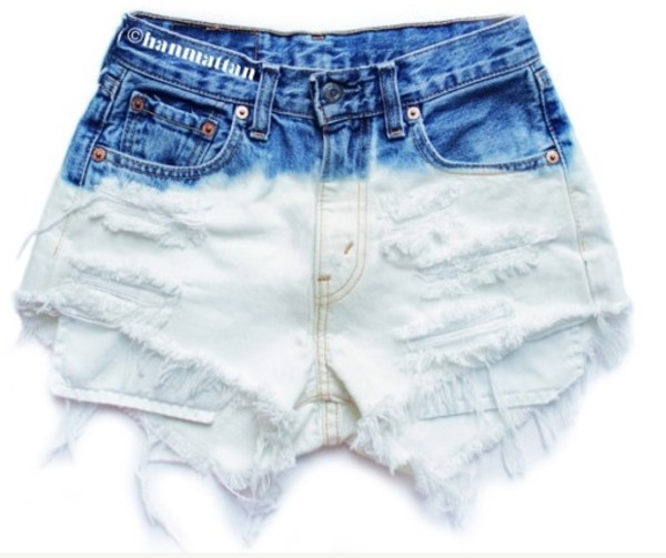 shorts High waisted shorts tie dye fashion clothes clothes tumblr clothes