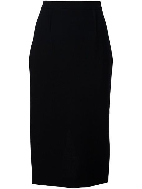 Roland Mouret skirt pencil skirt women black wool