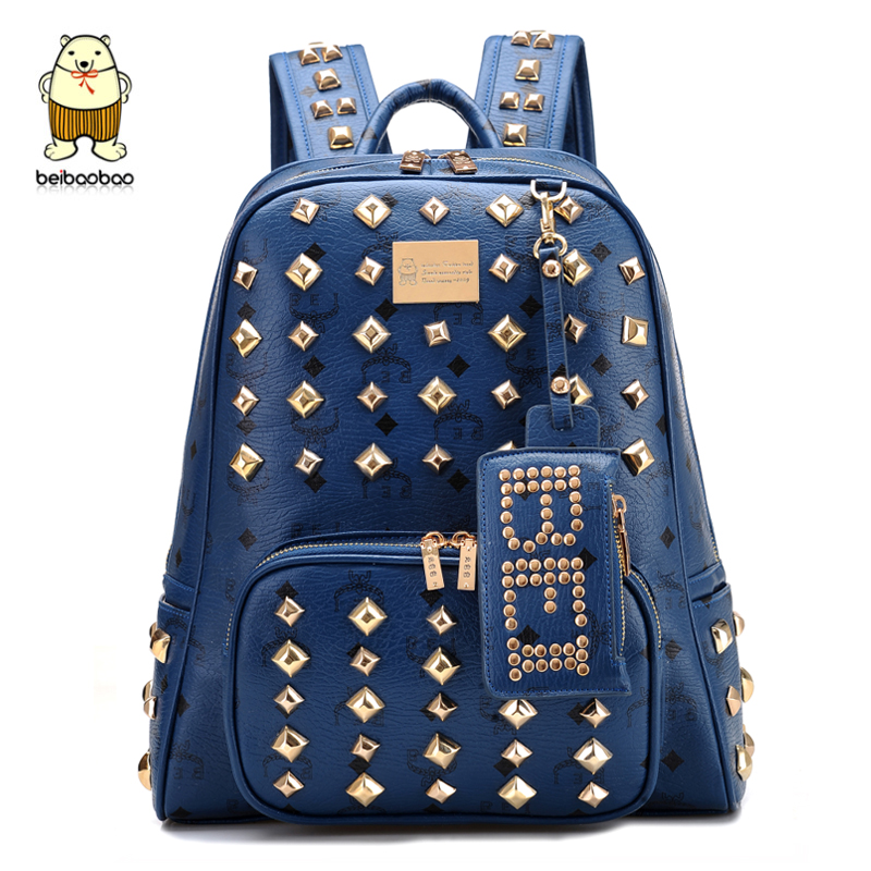Aliexpress.com : Buy Female male backpack travel backpack rivet casual computer school bag from Reliable bag game suppliers on a-kicks.