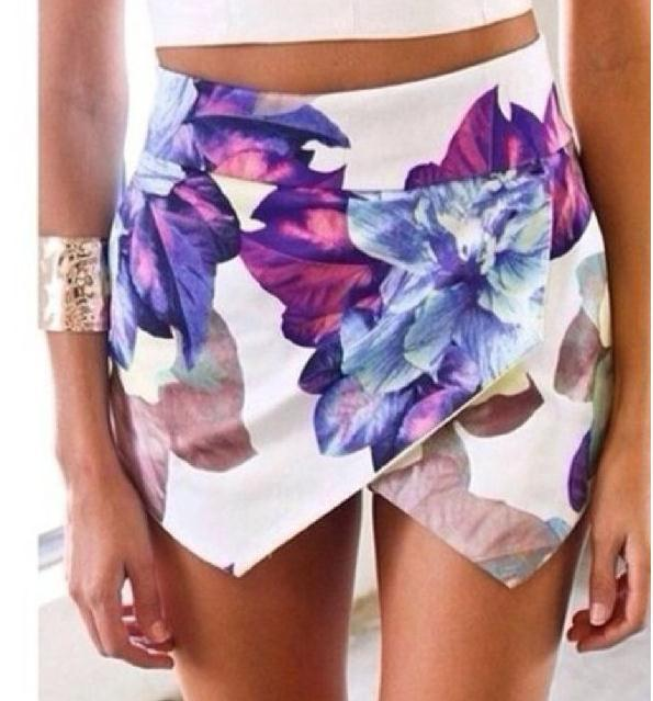 Cute colorful shorts skirt