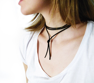 katiquette blogger jewels jewelry choker necklace black choker black necklace suede wrap choker boho boho jewelry bohemian