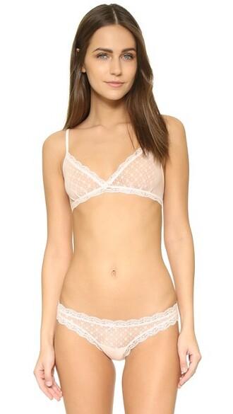bralette triangle pink underwear