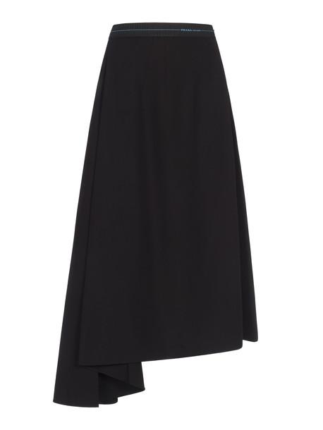 Prada Skirt Logo Band in black