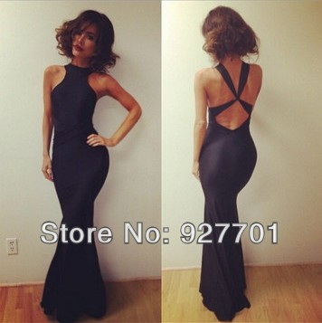 Aliexpress.com : buy free shipping 2014 new fashion mermaid sexy evening/party/prom dresses under $ 100backless halter gown long vestidos de fiesta from reliable gown evening dress suppliers on judy cheng's store