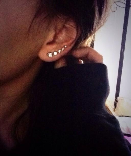 jewels ear piercings stud earrings earings earrings