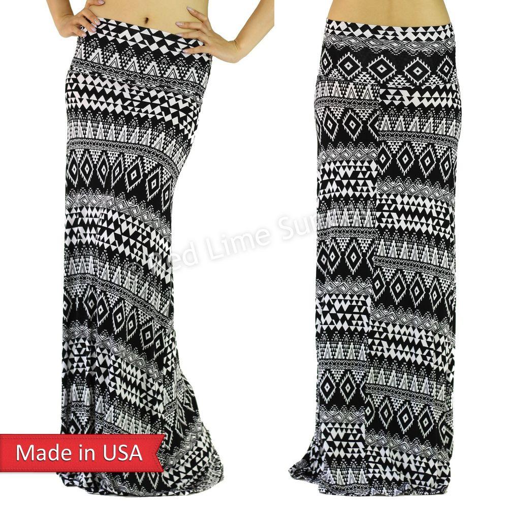 Maxi Skirt Black And White - Dress Ala