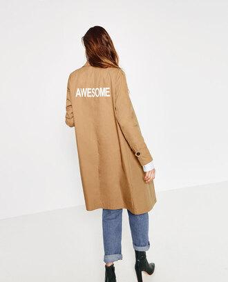 jacket trench coat beige coat