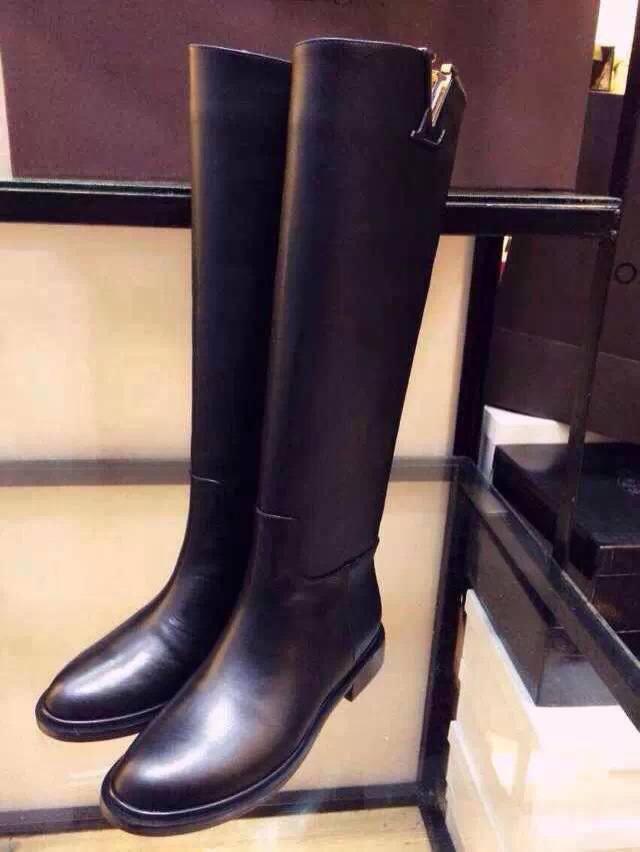 Winter New European And American Tall Leather Boots Ladies Boots ...