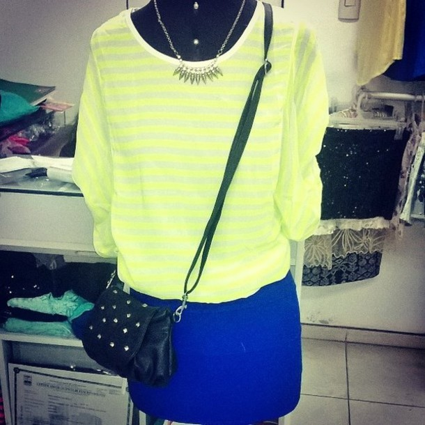 blouse neon urban outfitters