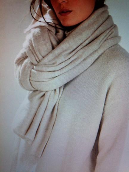 cream white winter outfits scarf knits zara grey