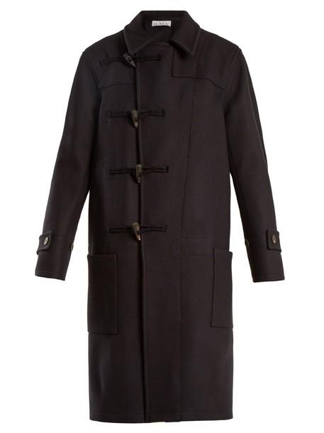 Raey coat duffle coat wool navy