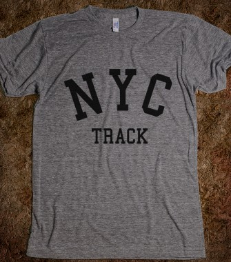 Nyc track t shirt state sports shirts skreened t for Nyc custom t shirts